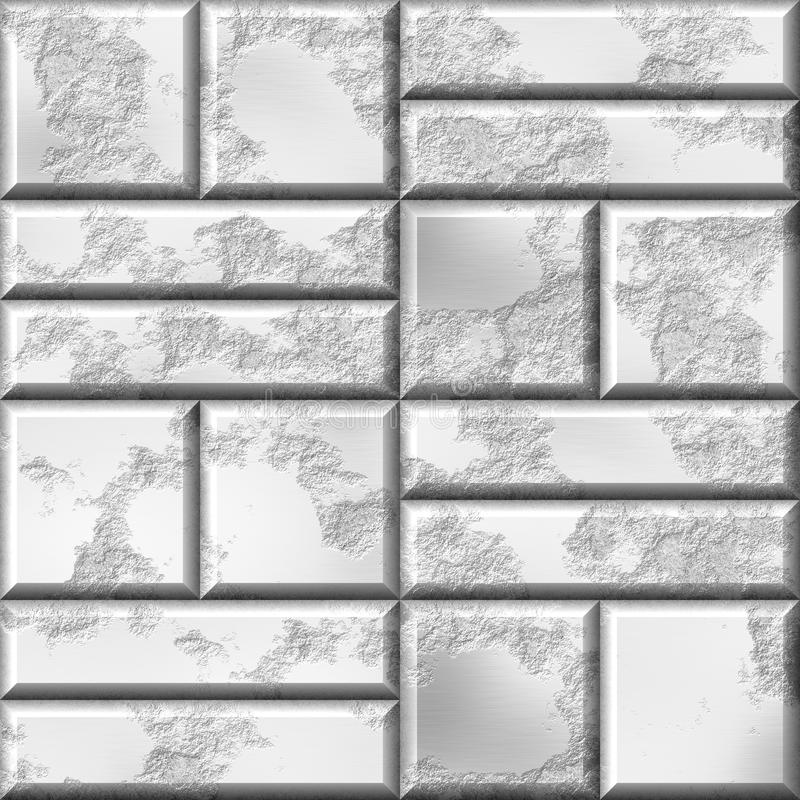 Free Wall Of Silver Bullion. 3d Rendered Silver Wall Background. Stock Image - 62982881