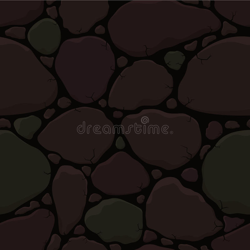 Wall. Old cracked stone wall seamless patterh stock illustration