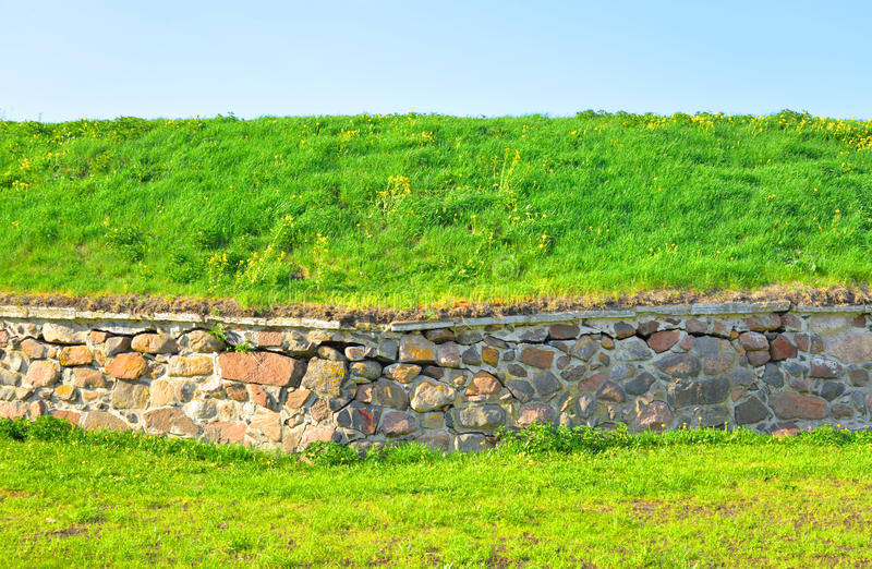 Wall of Old Fortress Korela. royalty free stock image