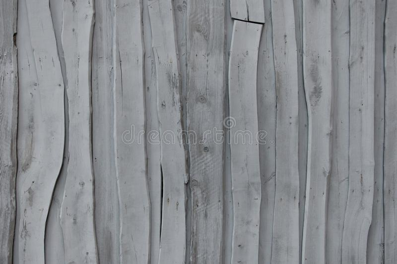 Wall of old gray abstract boards royalty free stock photo