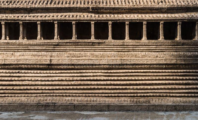 Wall of old pagoda. Wat Phra Kaew is Temple of the Emerald Buddha stock photos