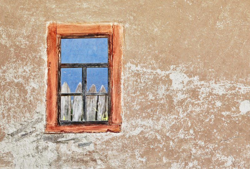 Download Wall Of Old Ukrainian House With A Window Stock Photography - Image: 25140312