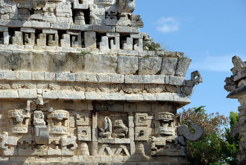 Chichen Itza temple stock photography