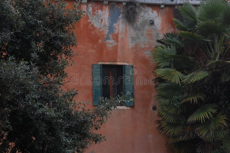 Wall with open window stock image