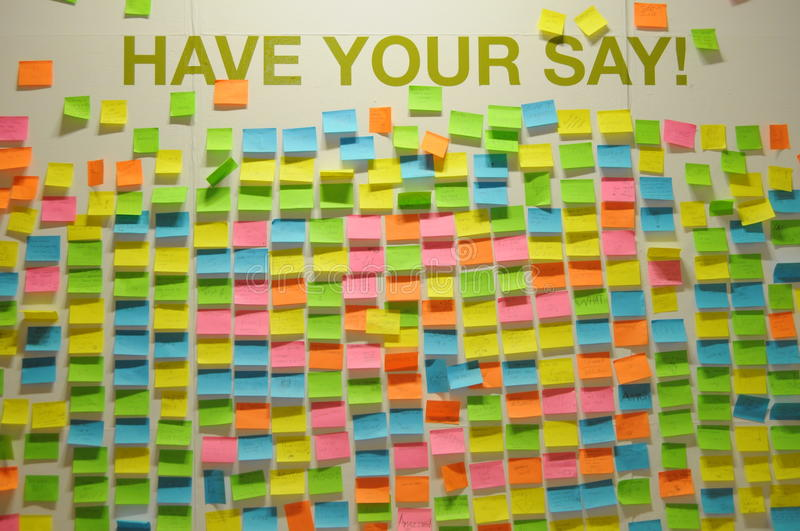 Download Wall Of Opinions Stock Images - Image: 14641684