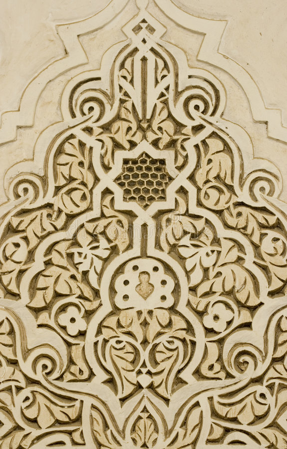 Wall ornaments. In arab models, arabesque stock photography