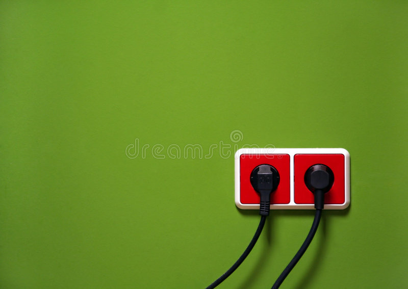 Wall outlets royalty free stock photo
