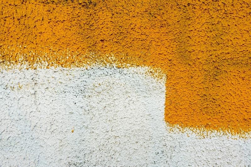 Wall painting abstract texture, yellow for graphic design stock photo