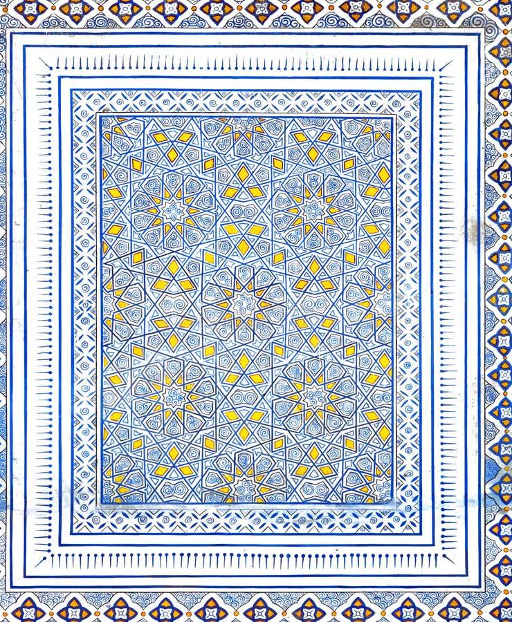 Wall painting of Kok Gumbaz mosque, Uzbekistan. Wall painting of Kok Gumbaz mosque, Shahrisabz, Uzbekistan royalty free stock photos