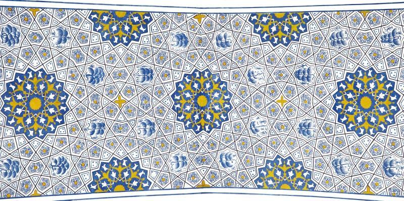 Wall painting of Kok Gumbaz mosque, Uzbekistan. Wall painting of Kok Gumbaz mosque, Shahrisabz, Uzbekistan royalty free stock photo