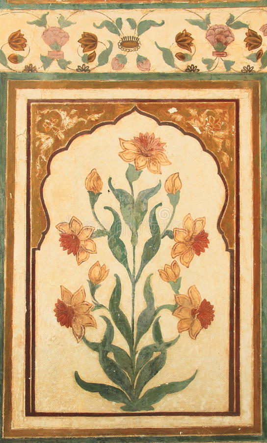 Download Wall Paintings On Nahargarh Fort Stock Photo - Image: 30901160