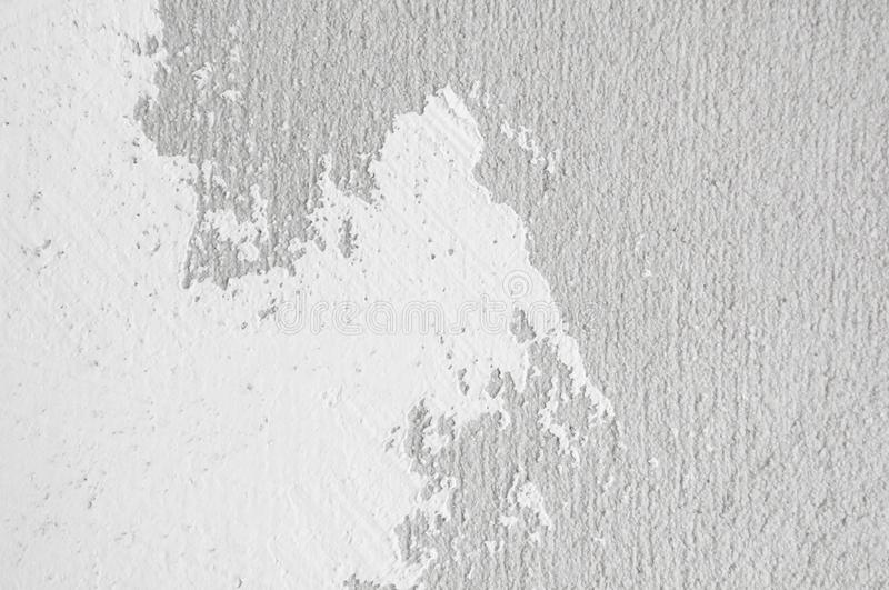 Wall panel grunge white,light grey concrete backdrop.Dirty,dust grey wall concrete,cement blackboard texture and splash white colo. R brush stroke for royalty free stock photos