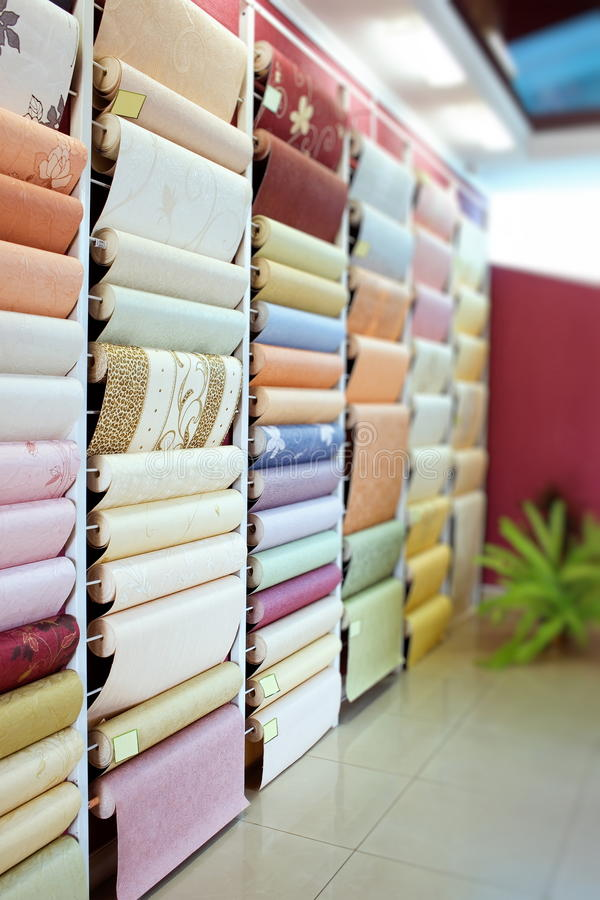 Download Wall-paper is in a shop stock image. Image of purchase - 13916019