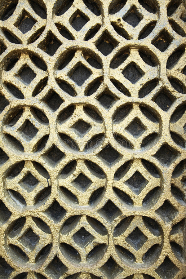 Wall pattern circles. In gold royalty free stock image