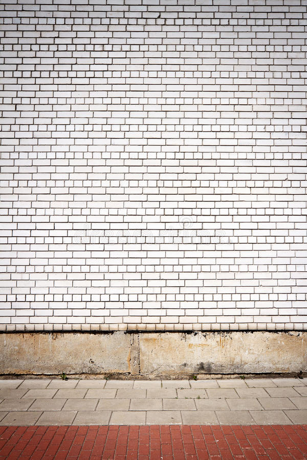 Wall and pavement stock photography