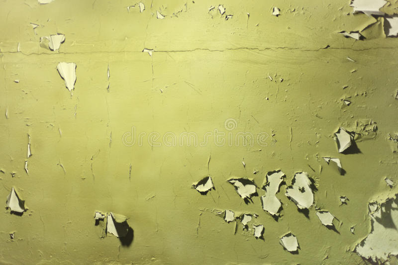 Wall With Peeled Off Green Paint Stock Photo - Image of surface ...