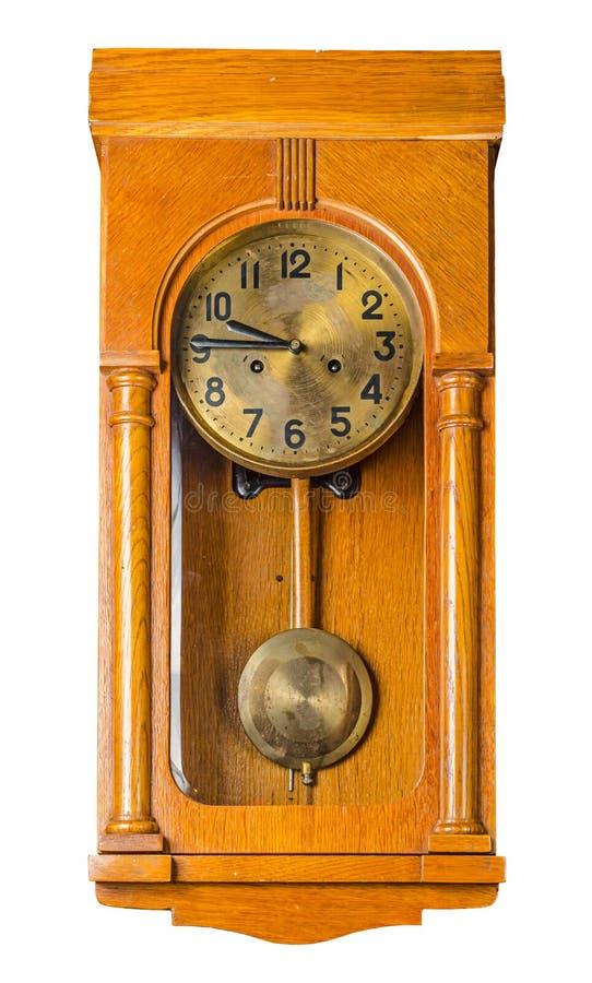 Wall pendulum clock royalty free stock photos