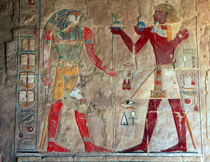 Wall picture in Luxor stock image
