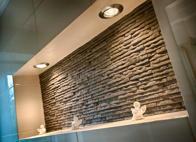 Download Wall recess in a bathroom stock image. Image of sandstone - 31218061