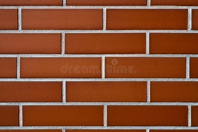 Wall of Red Brick stock images