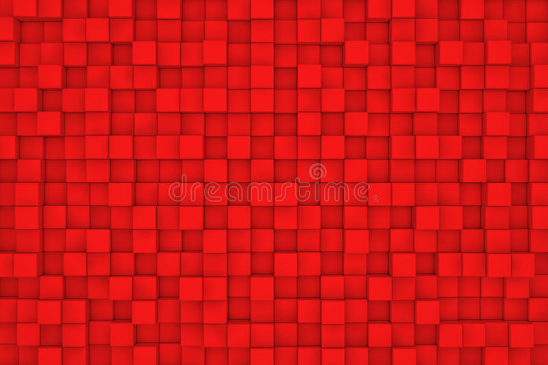 Wall of red cubes royalty free illustration