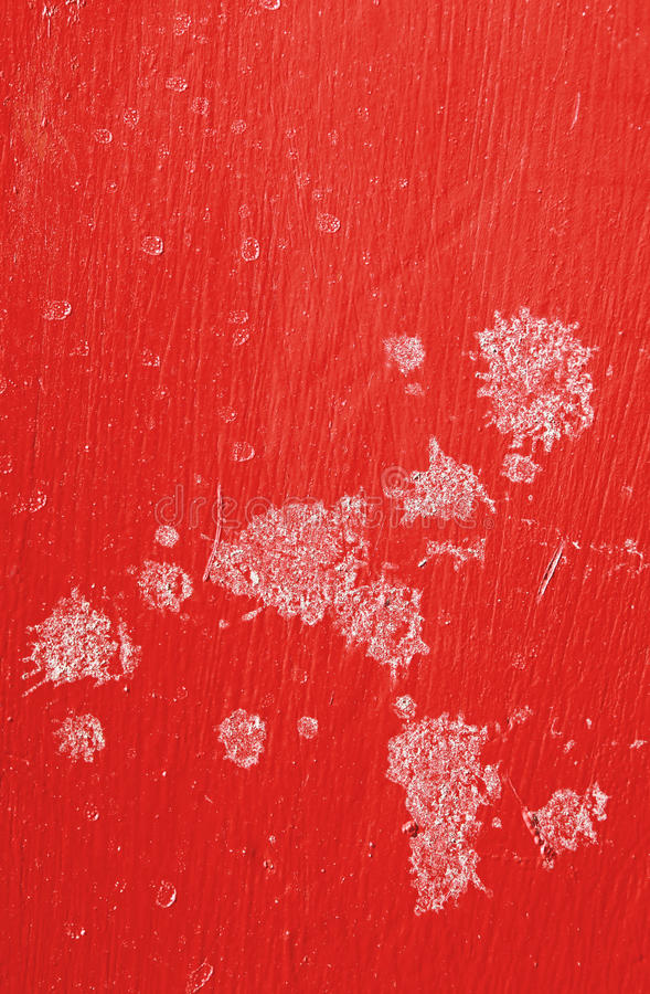Wall with red marked weathered pattern paint royalty free stock images