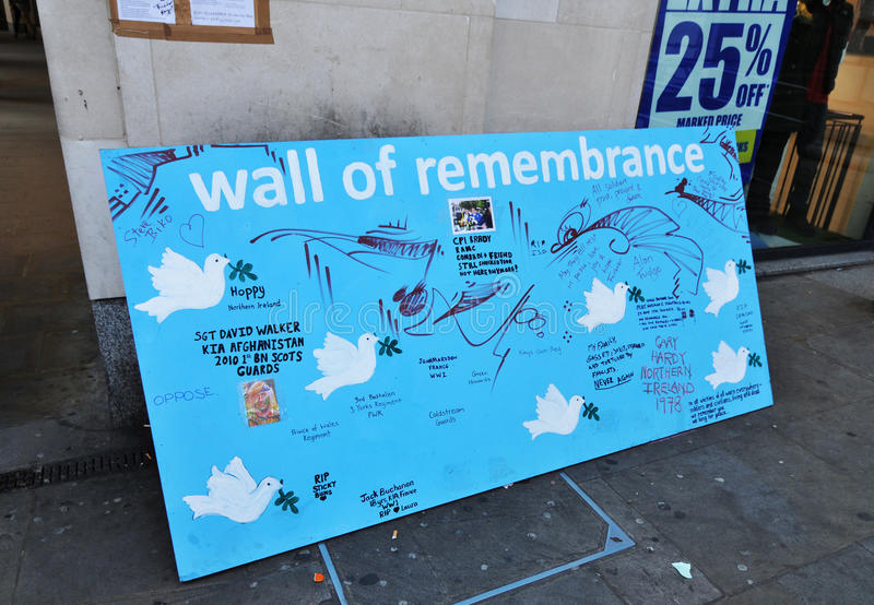 Download Wall of remembrance editorial stock photo. Image of community - 22223203