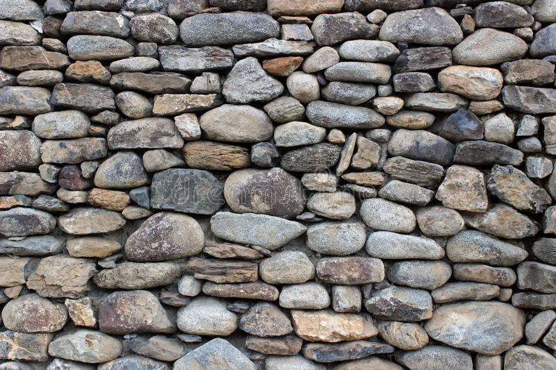 Wall rocks. Detail of a wall of granite rocks of a country house stock photography