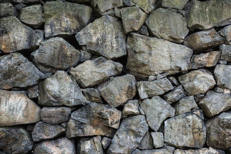 Rough Stone Block Texture : Wall of rough stone blocks stock photo image built