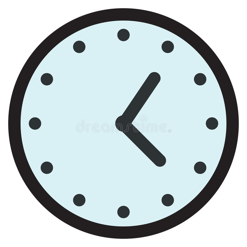 Wall round analog clock face, watch icon. Vector illustration flat style design isolated on white. Colorful graphics vector illustration