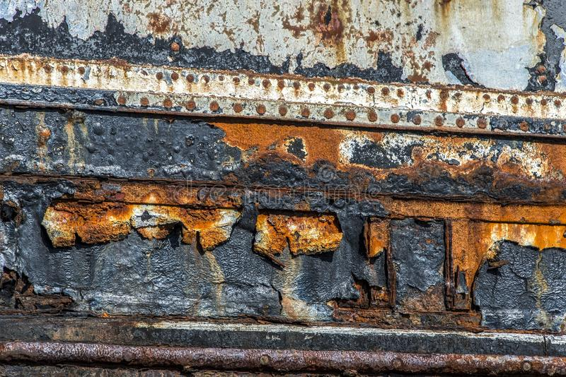 Wall, Rust, Wood, Metal stock photo