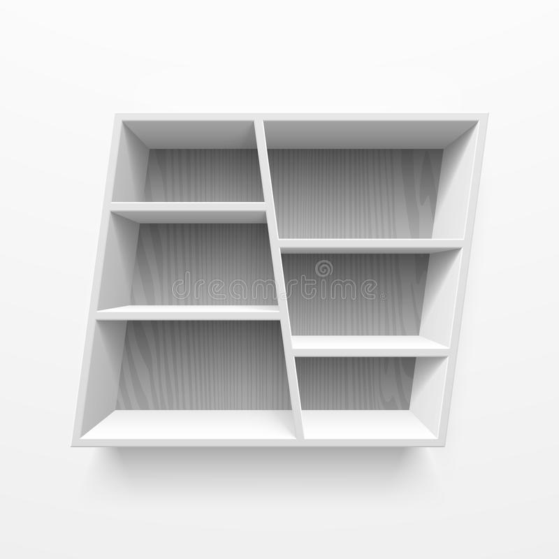 Wall shelves. Illustration on white royalty free illustration