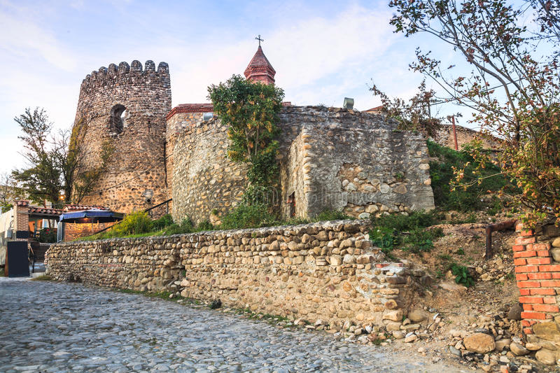 Wall of Sighnaghi stock image