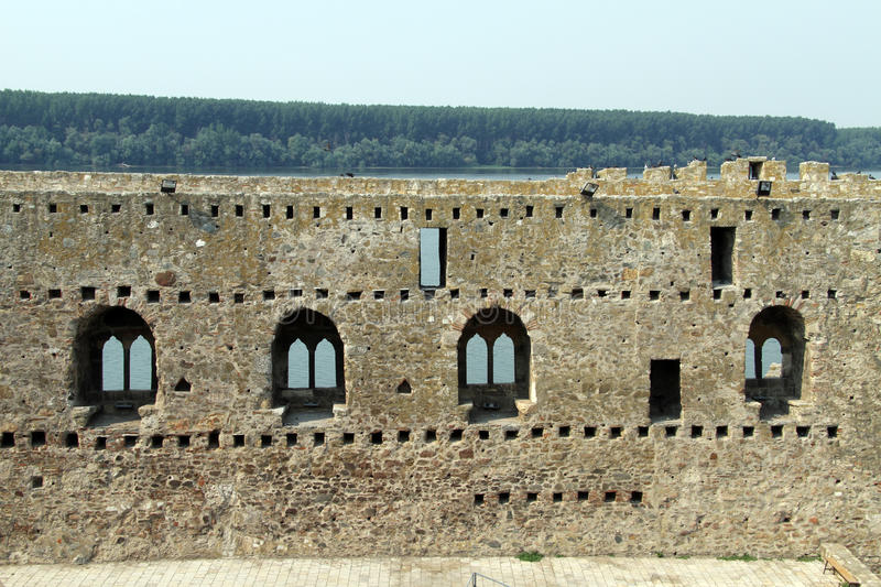 Wall in Smederevo royalty free stock photo