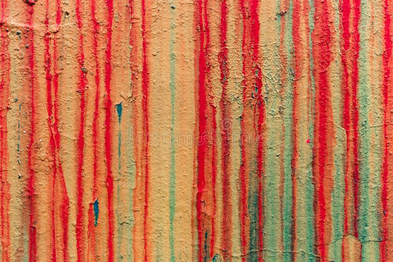 Wall with smudges of multi-colored paint royalty free stock photo