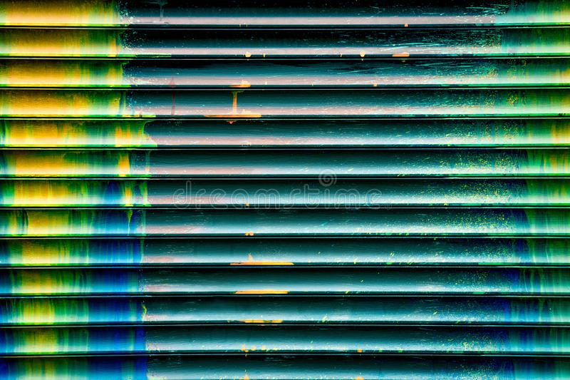 Wall with smudges of multi-colored paint royalty free stock photography