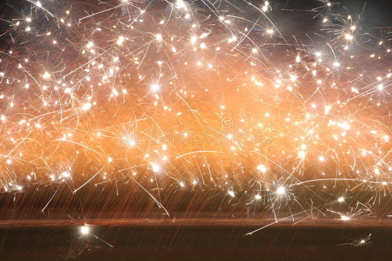 Wall Of Sparks Royalty Free Stock Photo