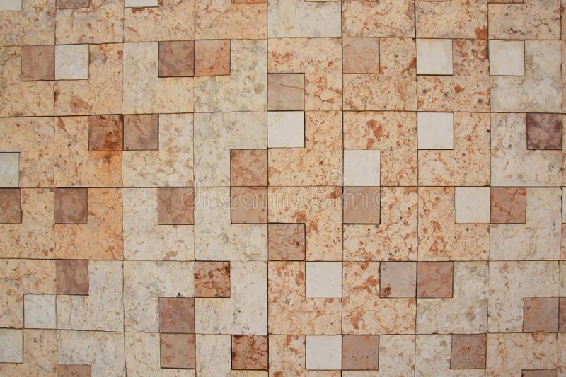 Wall of square marble stock images