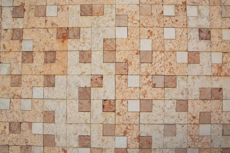 Wall of square marble royalty free stock photography
