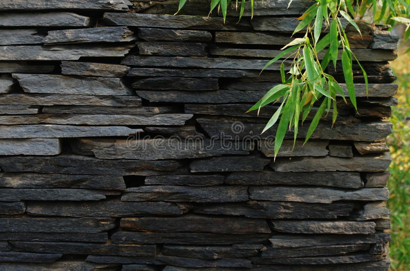 A wall of stone royalty free stock photos