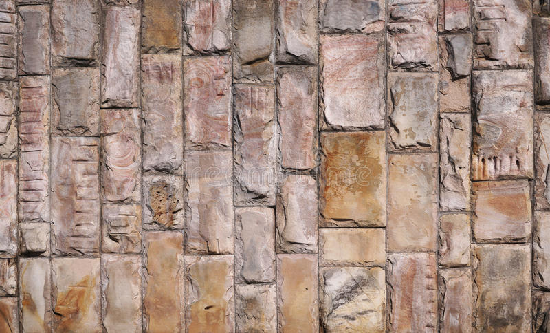 Wall of stone blocks royalty free stock photos