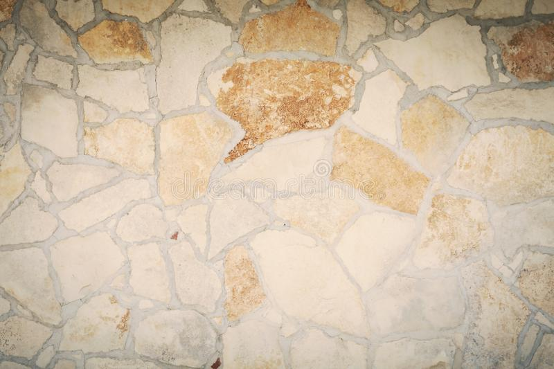 Wall stone compact shadowed stock images