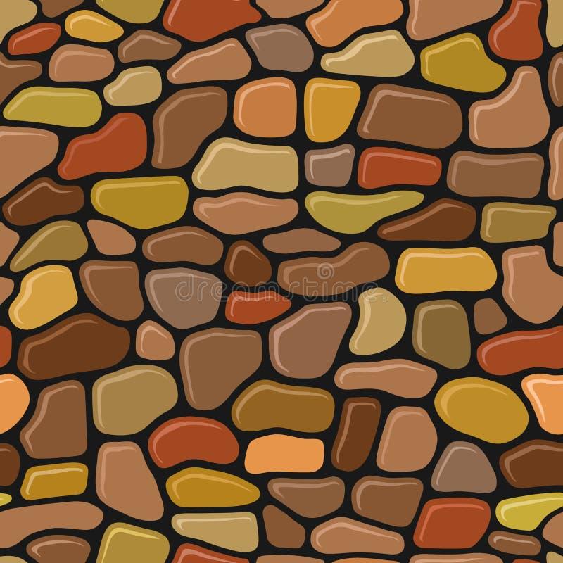 Wall stone seamless pattern. Funny wall stones seamless pattern vector illustration