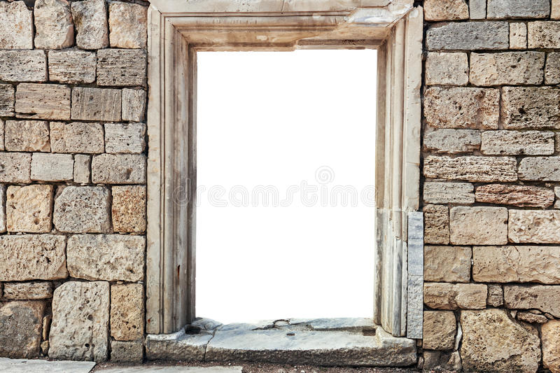 Wall of stones with insulated window royalty free stock photos
