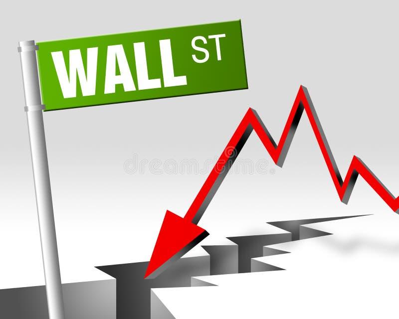 Wall Street 01 illustrazione di stock