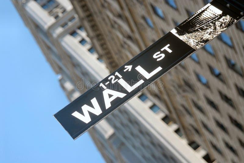 Wall Street imágenes de archivo libres de regalías