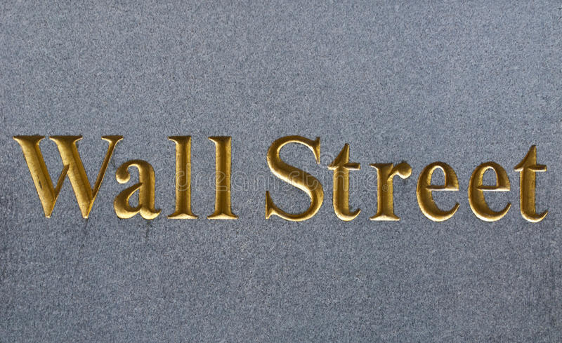 Wall street. In Gold, New York royalty free stock photos