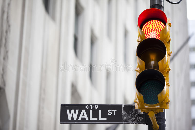 Wall street royalty free stock images