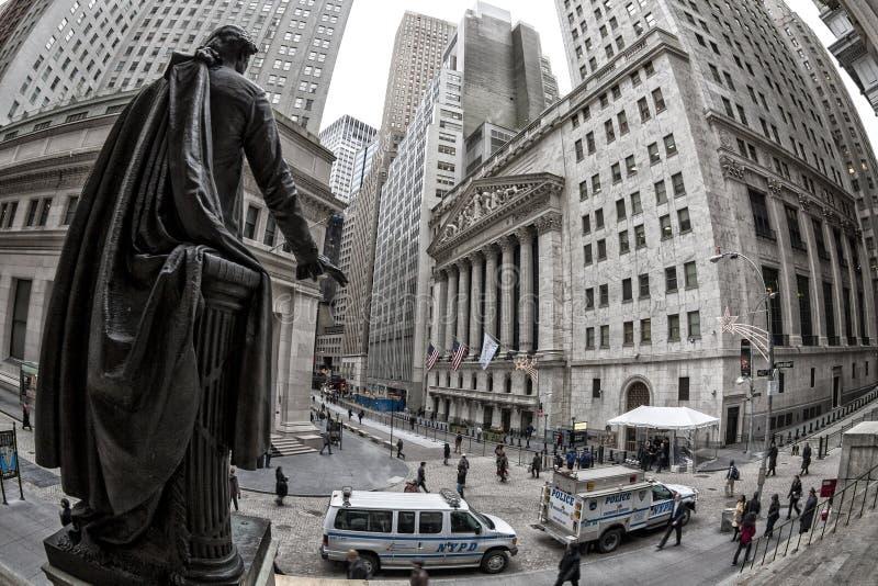 Wall Street lizenzfreie stockbilder