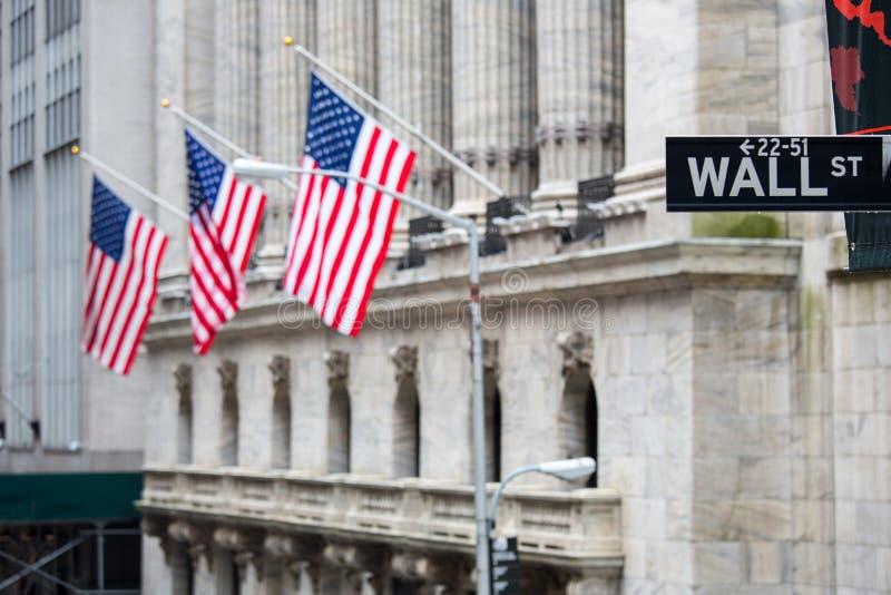 Wall Street images libres de droits